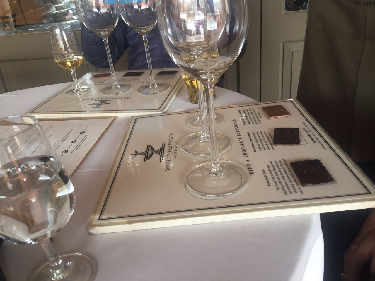 Wine and chocolate tasting, Stellenbosch, Cape Town
